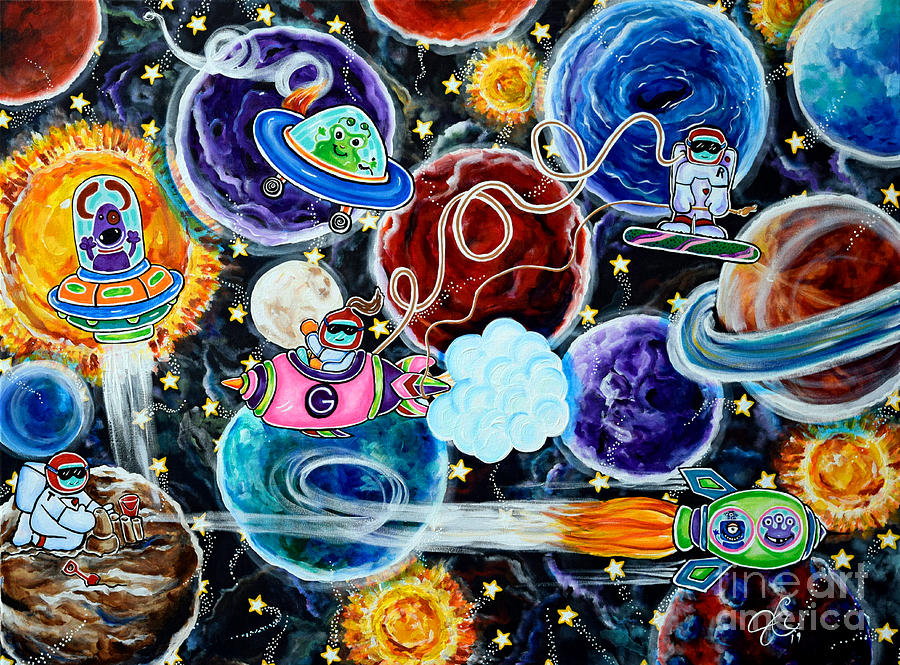The Milky Way Space Camp Planets Moon Sun Spacecraft Astronauts by Jackie Carpenter