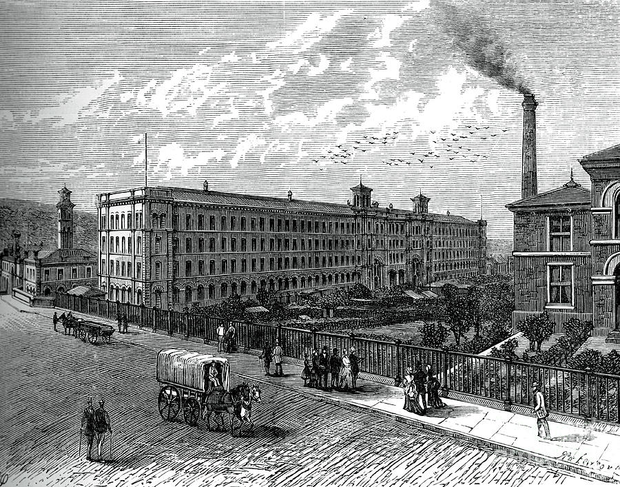 The Mill At Saltaire, C1880 Drawing by Print Collector