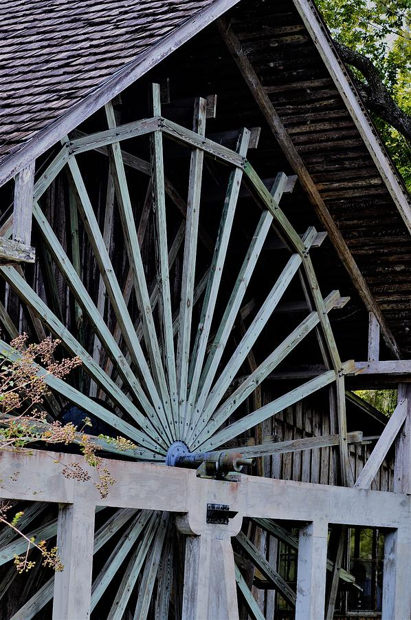 The Mill Wheel at DeLeon Springs  by Warren Thompson