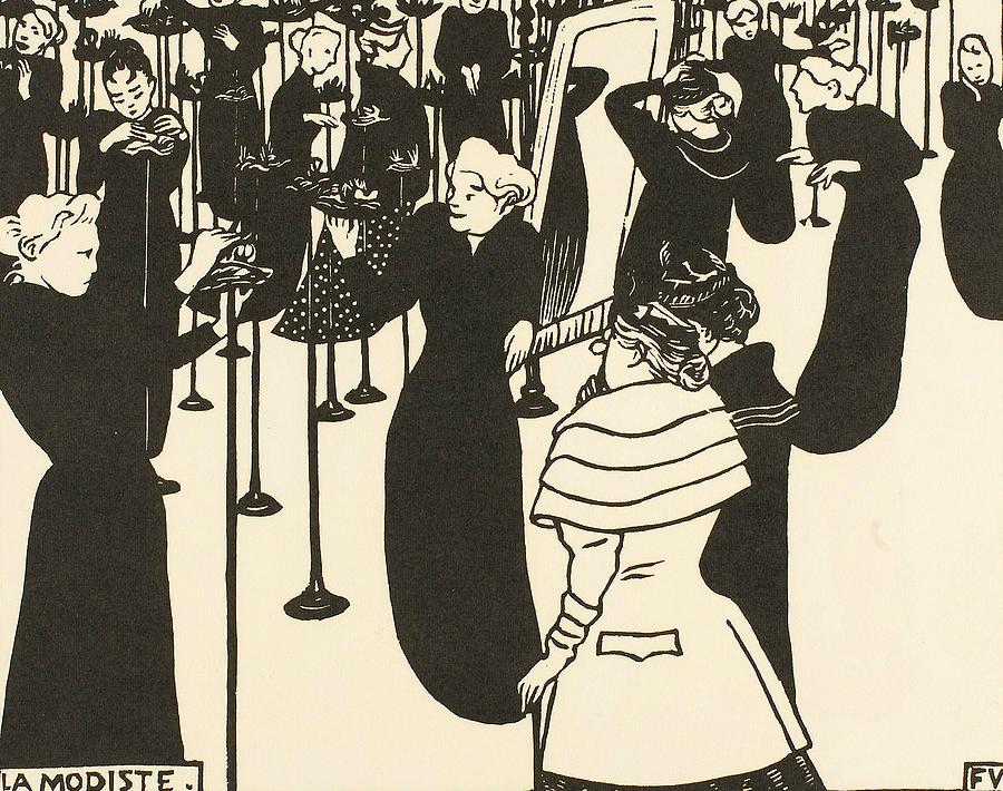 The Milliner by Felix Edouard Vallotton