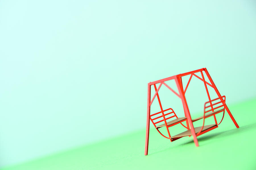 The Model Of The Swing Made Of The Paper Photograph by Yagi Studio