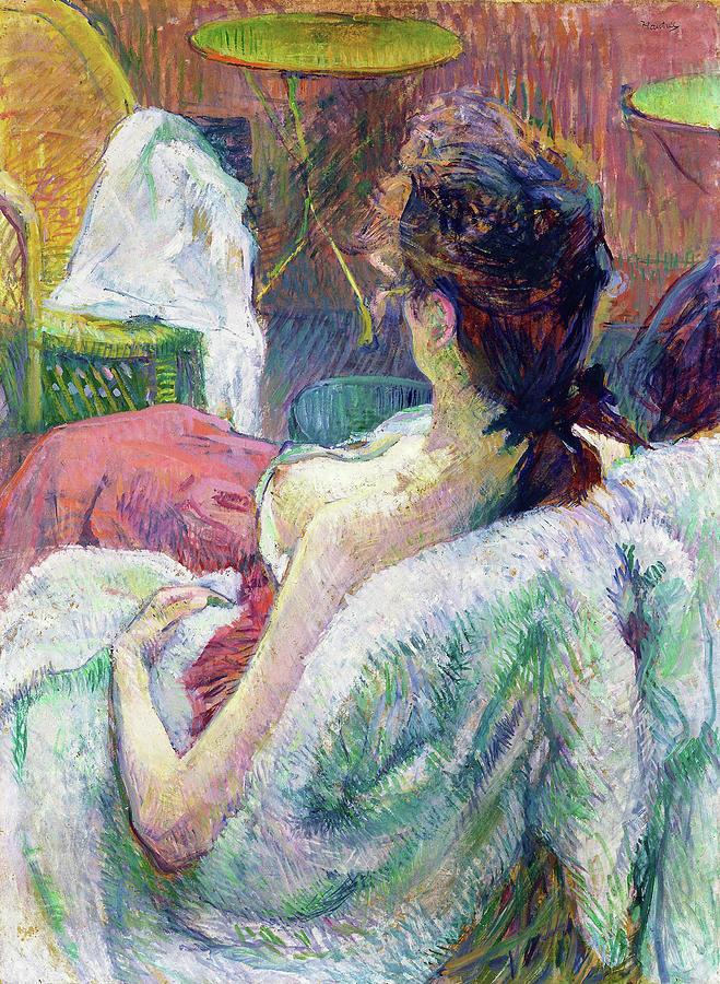 Henri De Toulouse-lautrec Painting - The Model Resting - Digital Remastered Edition by Henri de Toulouse-Lautrec