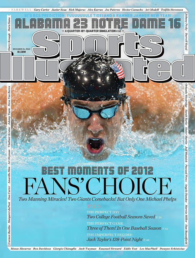 The Moments Of 2012 Michael Phelps Sports Illustrated Cover Photograph by Sports Illustrated