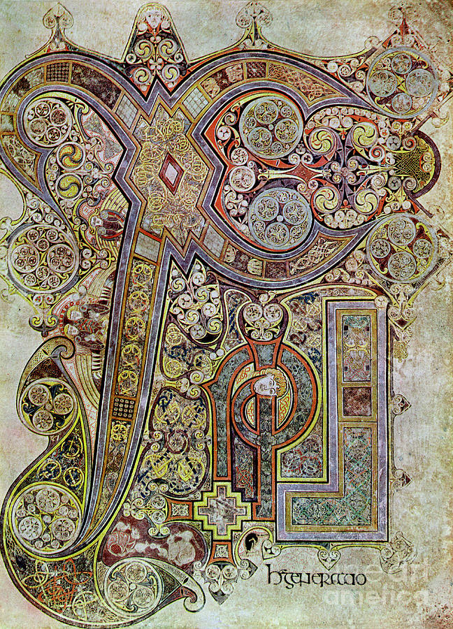 The Monogram Page, 800 Ad, 20th Century Drawing by Print Collector