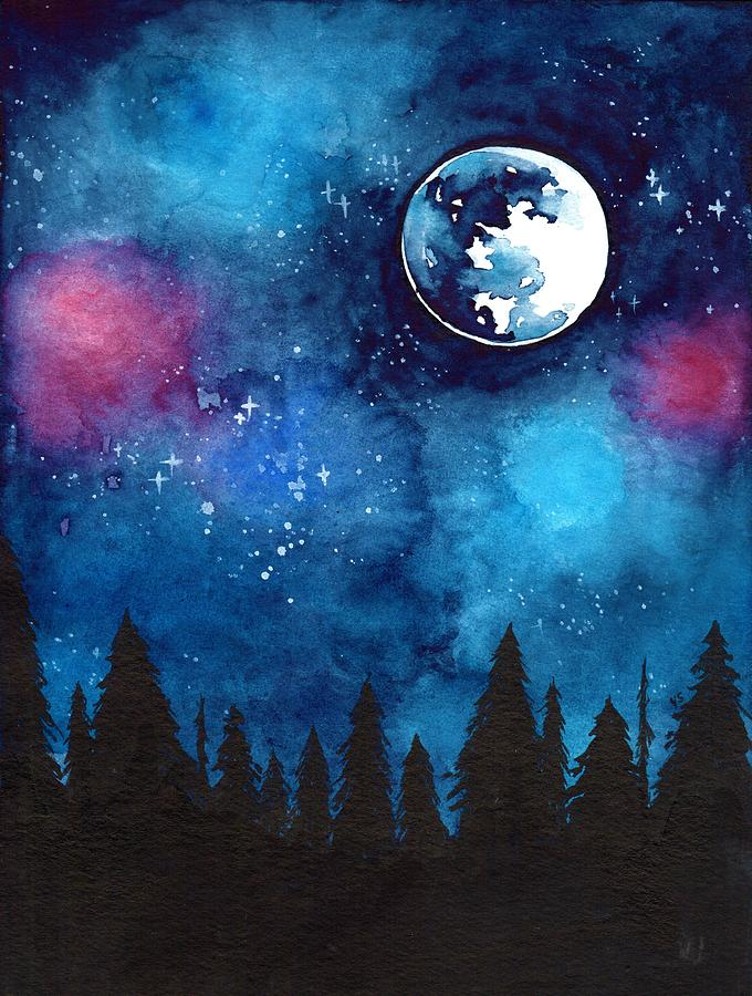 Moon Painting - The Moon by ArtMarketJapan