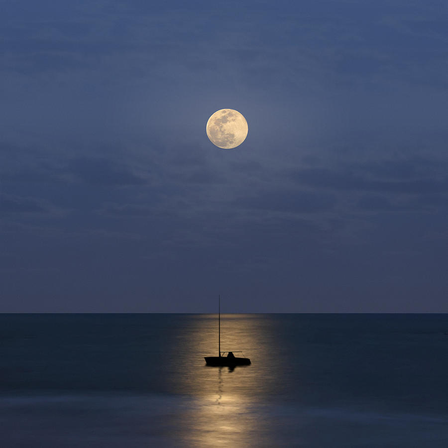 The Moon Guide Us Photograph by Carlos Gotay
