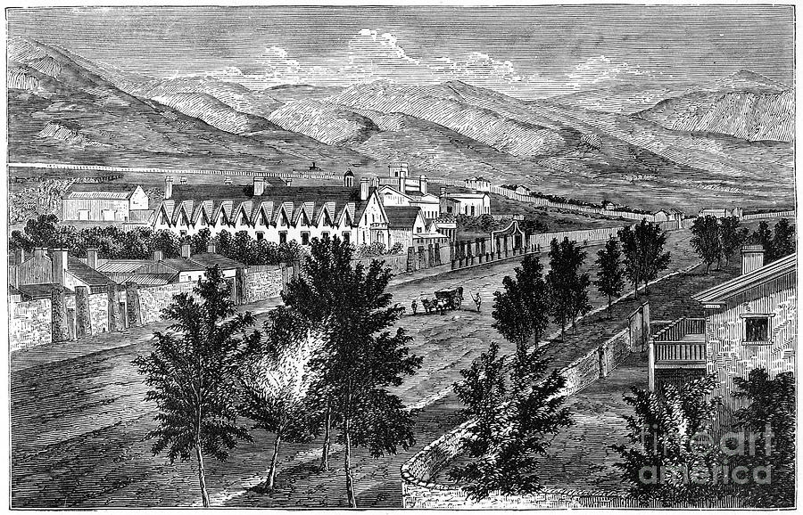 The Mormon Temple And Prophets Block Drawing by Print Collector