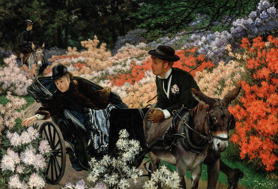 James Tissot Painting - The Morning Ride by James Tissot