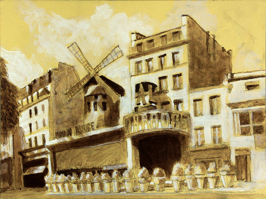 The Moulin Rouge monochrome by David Zimmerman