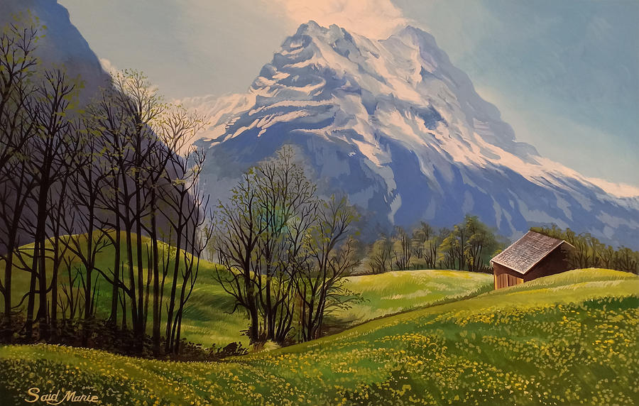 Mountain Painting - The Mountain by Said Marie