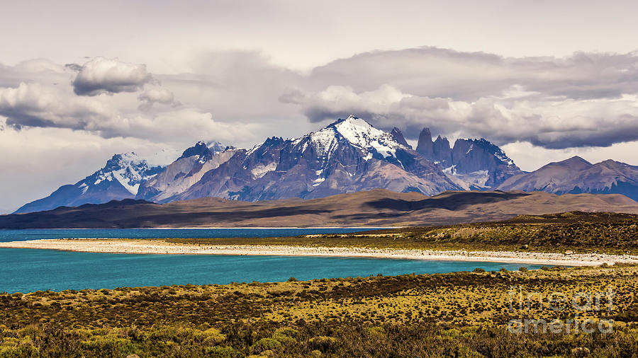 The mountains of Torres del Paine National Park, Chile by Lyl Dil Creations