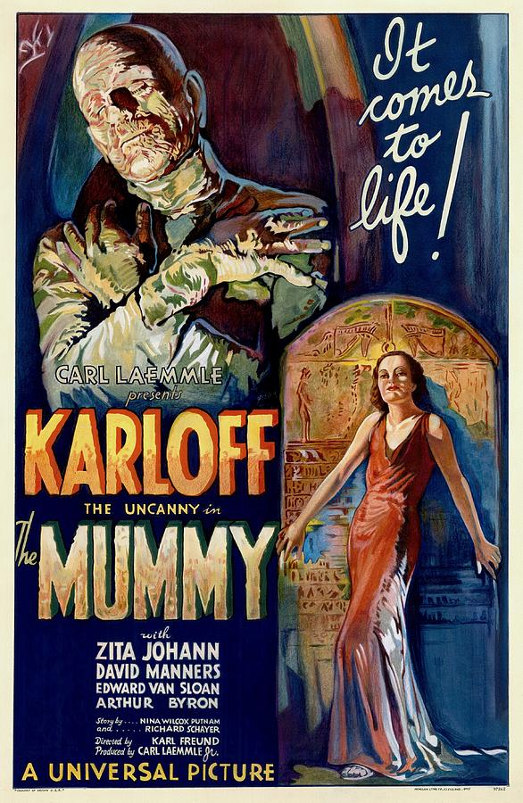 The Mummy Painting - The Mummy 1932 Film by Unknown