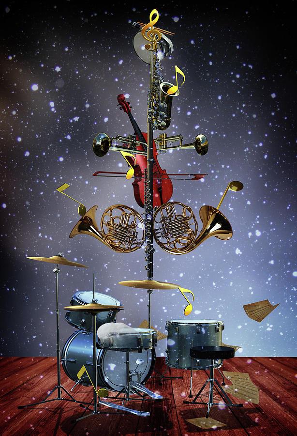 The Musical Christmas Tree Digital Art