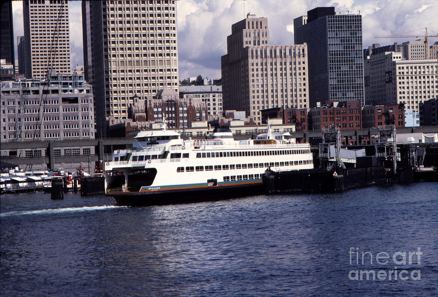The MV Spokane is a Jumbo-class ferry at the Colman Dock, Seattl by Mr Pat Hathaway Archives