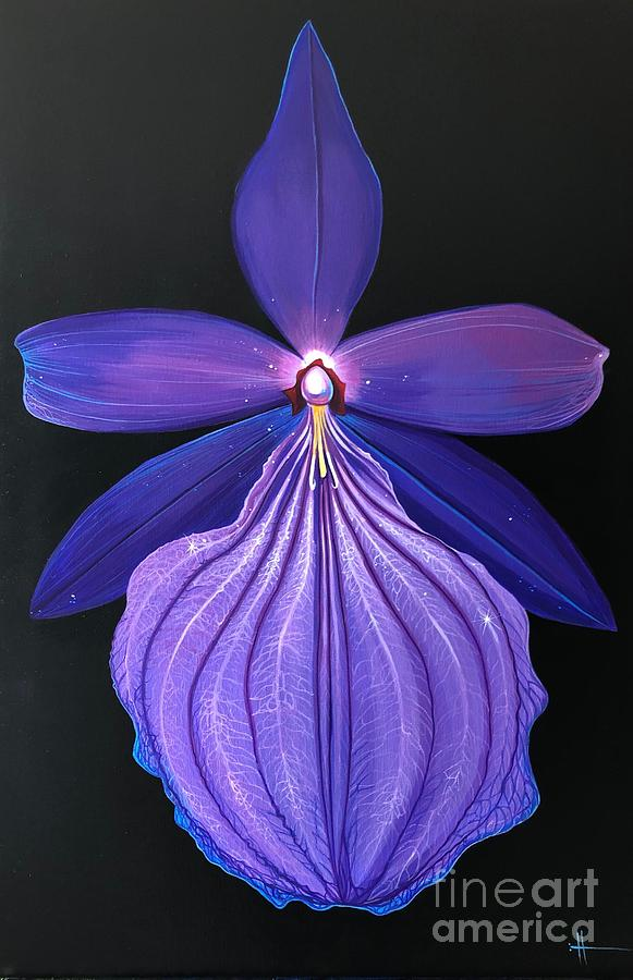 Orchid Painting - The Mystic by Hunter Jay