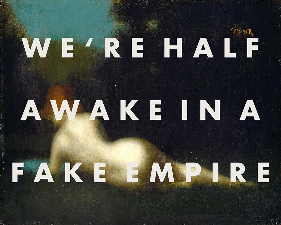The National Fake Empire Print by Georgia Fowler