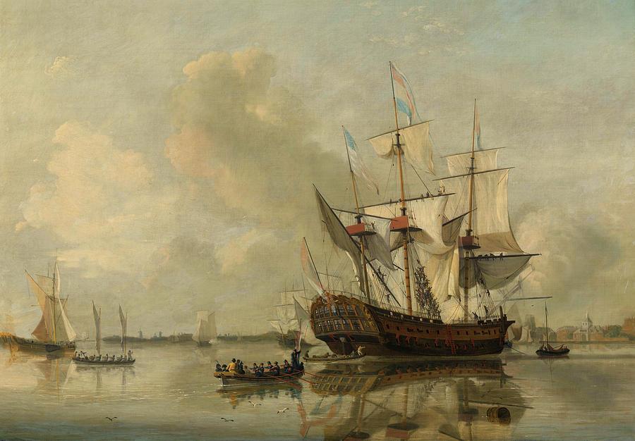 the-navys-frigate-rotterdam-on-the-maas-