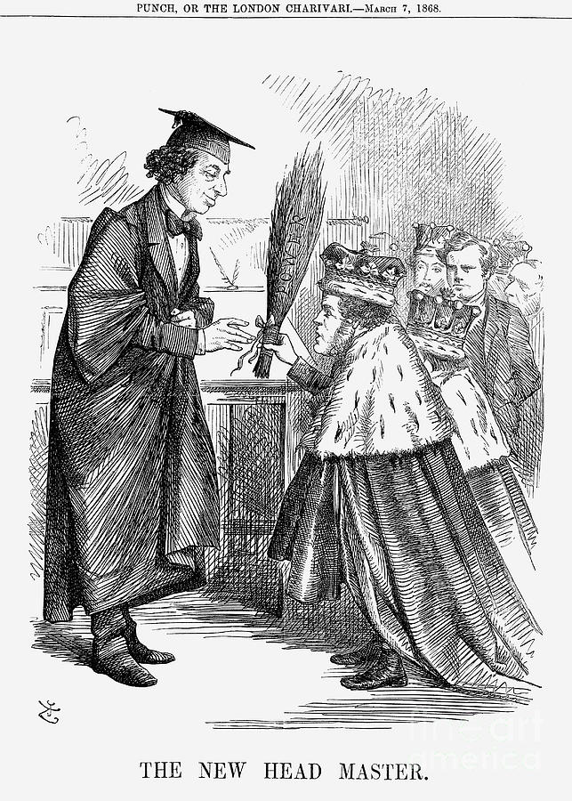 The New Head Master, 1868. Artist John Drawing by Print Collector
