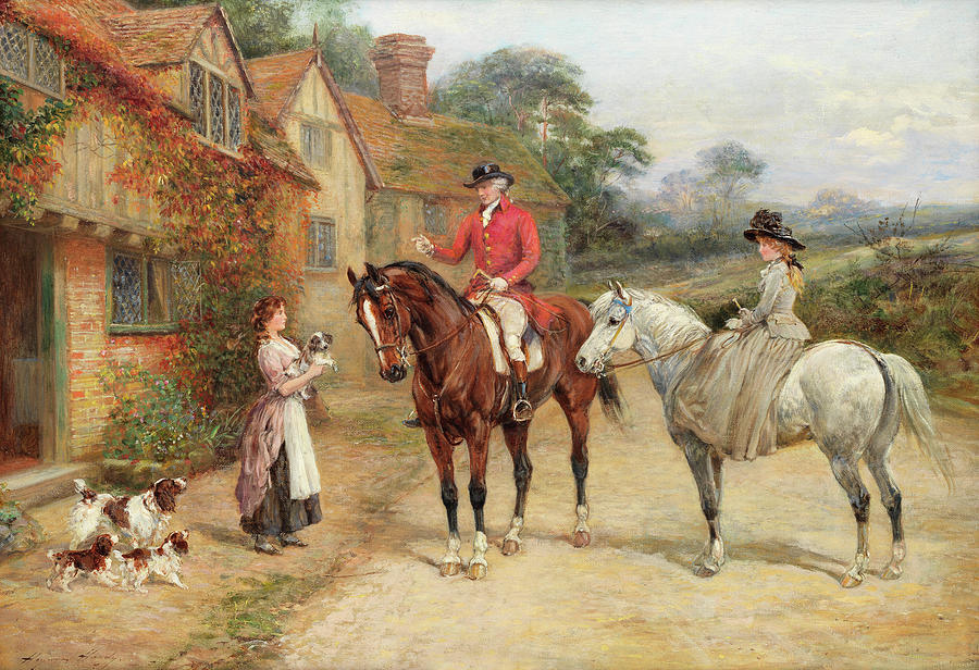 Litter Painting - The New Litter by Heywood Hardy