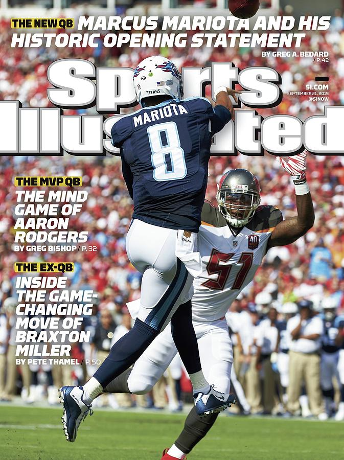 The New Qb Marcus Mariota And His Historic Opening Statement Sports Illustrated Cover Photograph by Sports Illustrated