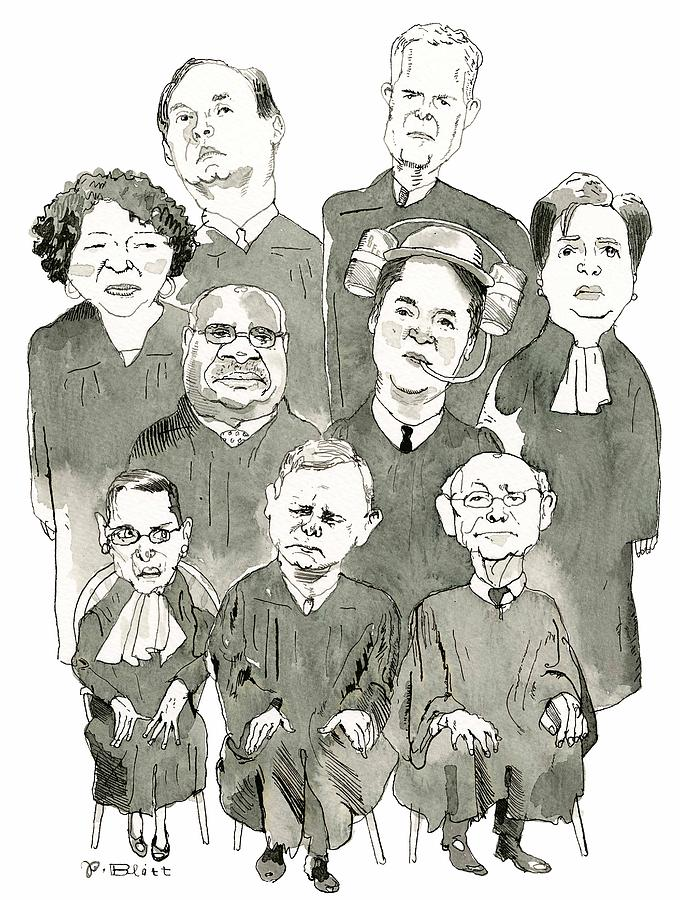 The New Supreme Court Drawing by Barry Blitt