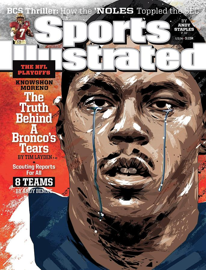 The Nfl Playoffs Knowshon Moreno, The Truth Behind A Sports Illustrated Cover Photograph by Sports Illustrated