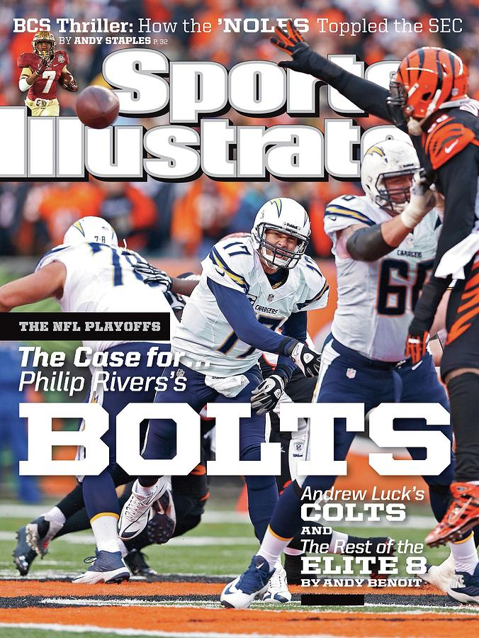The Nfl Playoffs The Case For . . . Philip Rivers Bolts Sports Illustrated Cover Photograph by Sports Illustrated