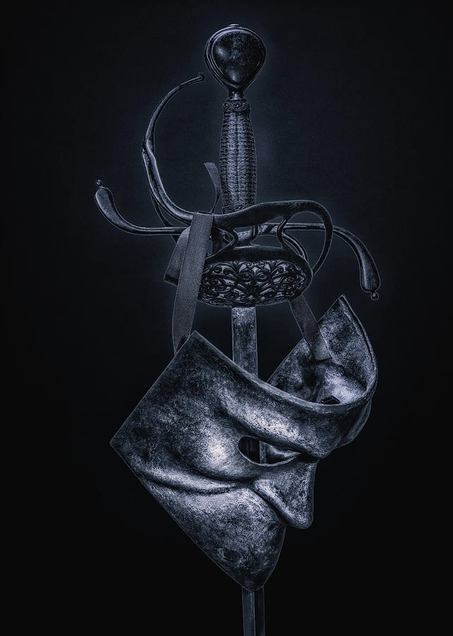 Sword Photograph - The Noble Mans Mask by Hans Zimmer