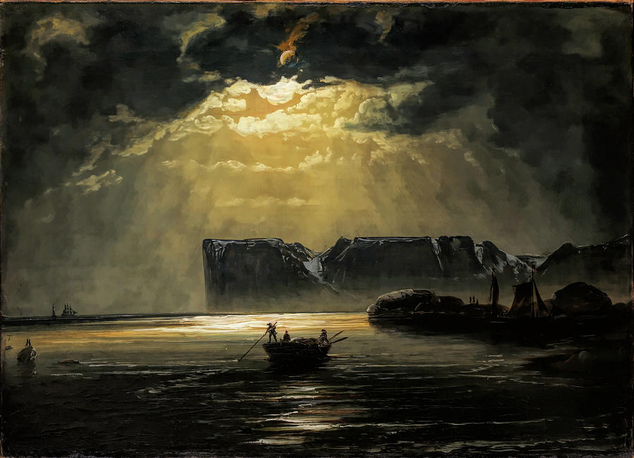The North Cape by Moonlight                                                    by Peder Balke
