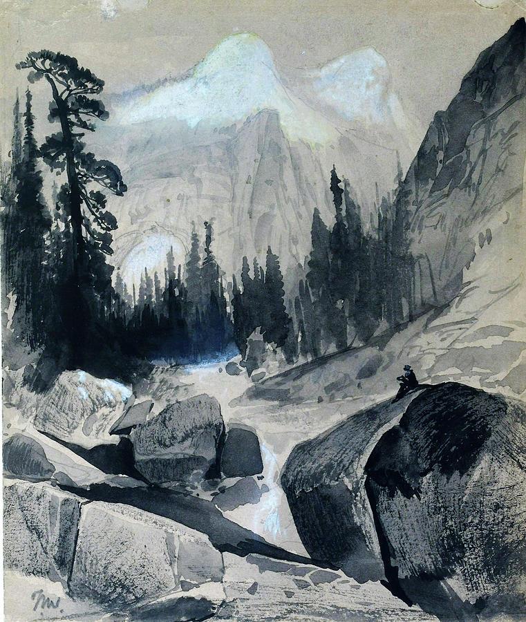 Thomas Moran Painting - The North Dome, Yosemite, California - Digital Remastered Edition by Thomas Moran