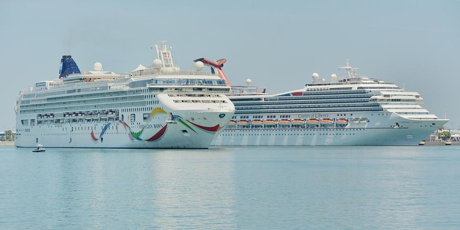 The Norwegian Dawn and The Carnival Liberty by Bradford Martin