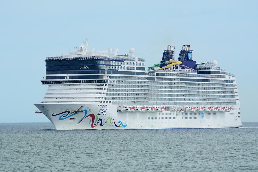 The Norwegian Epic returning from sea by Bradford Martin
