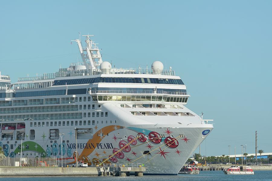 The Norwegian Pearl at Port Canaveral and Lifeboats by Bradford Martin