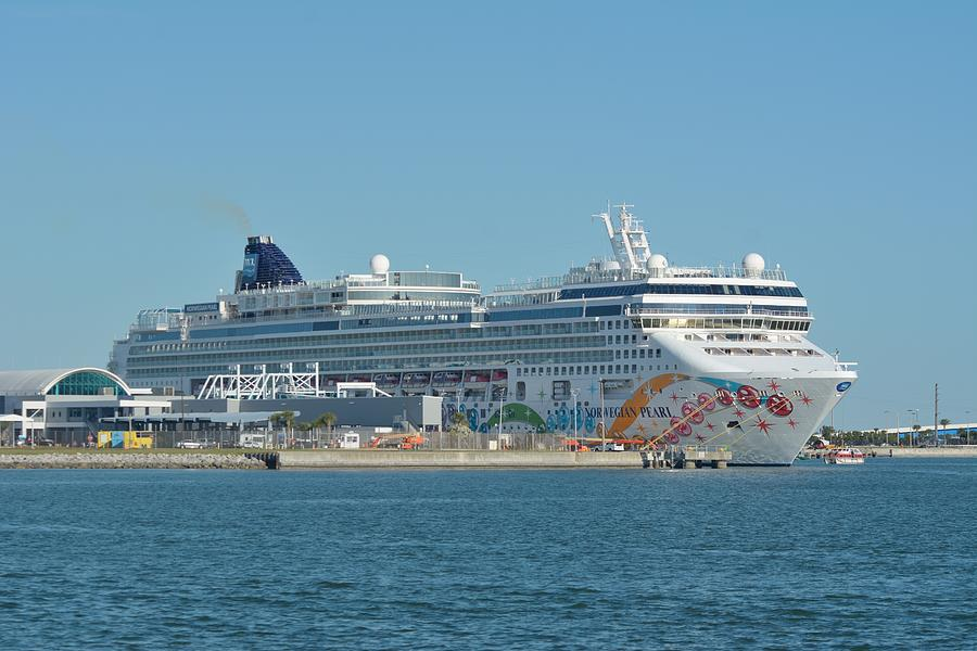 The Norwegian Pearl at Port Canaveral  by Bradford Martin