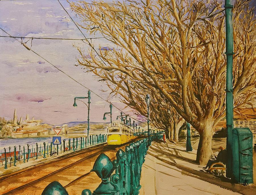Danube Painting - The Number 2 Along the Danube by Monika Arturi