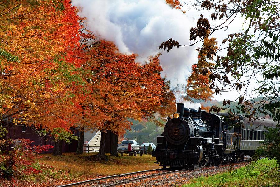 The Number 40 steam train in Essex CT by Jeff Folger