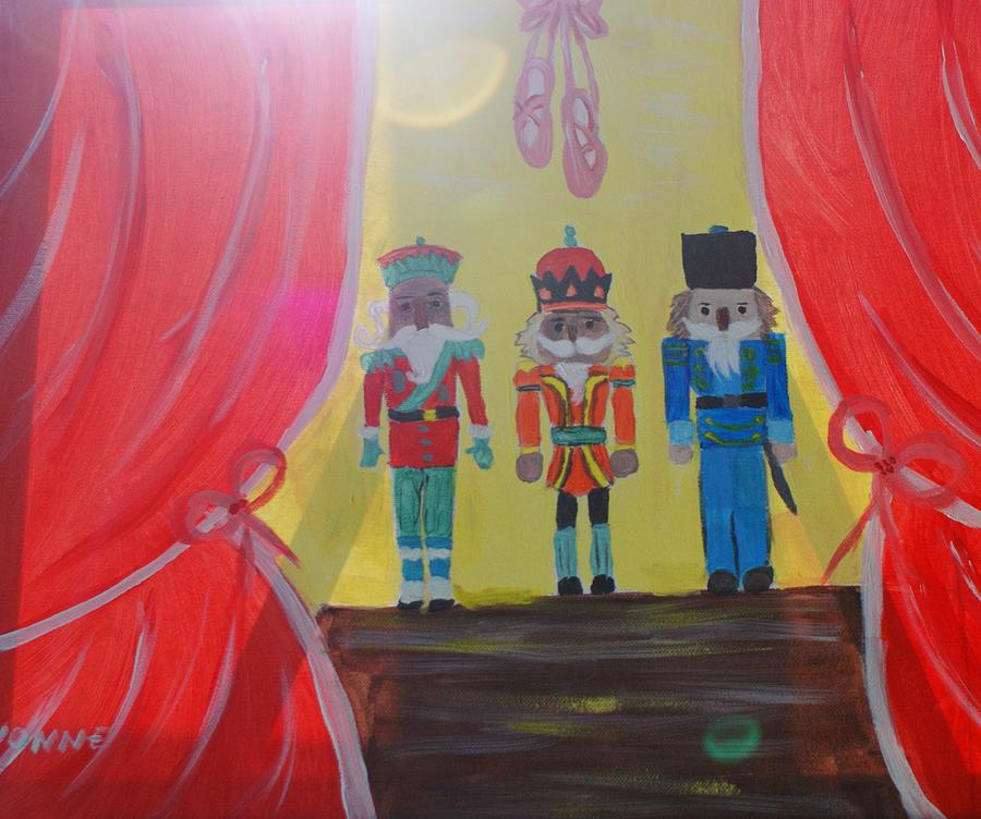 Nutcrackers Painting - The Nutcrackers by Yvonne Sewell