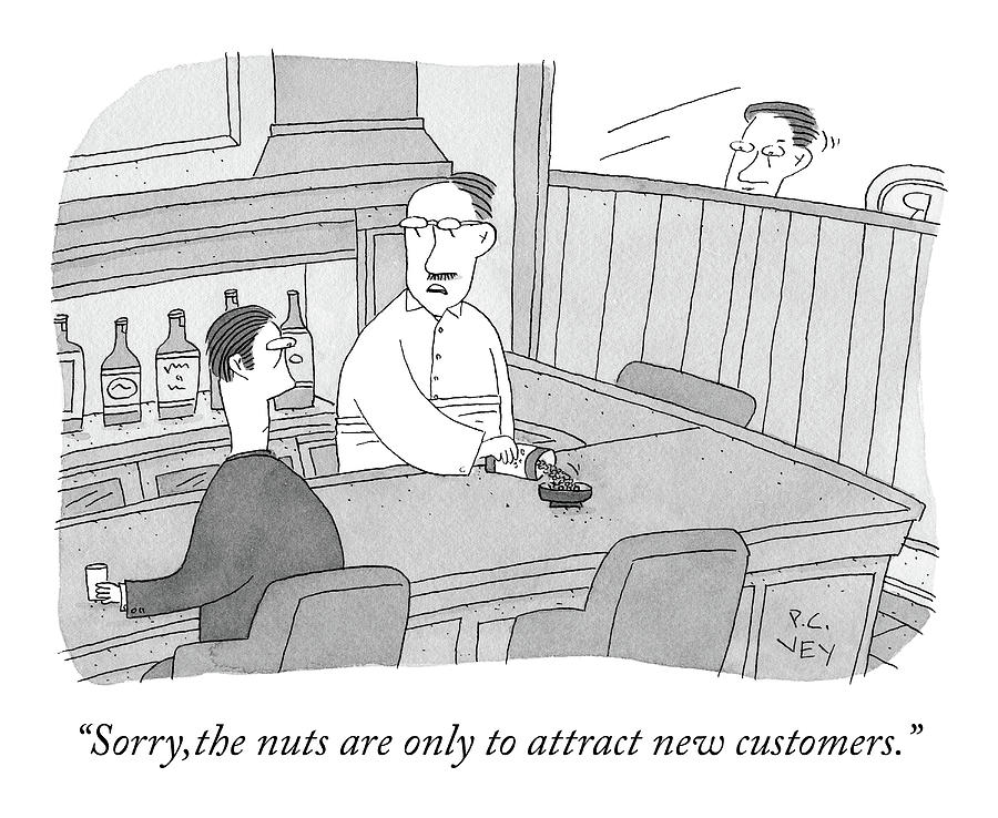 The Nuts Drawing by Peter C Vey