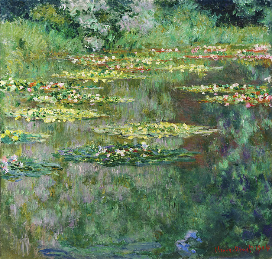 Claude Monet Painting - The Nympheas Basin - Digital Remastered Edition by Claude Monet
