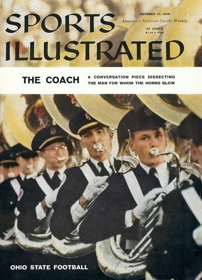 The Ohio State University Marching Band Sports Illustrated Cover Photograph by Sports Illustrated