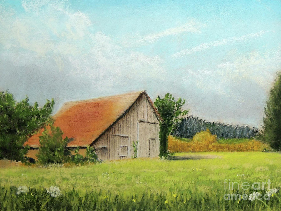 The Old Barn in the Meadow by Jayne Wilson