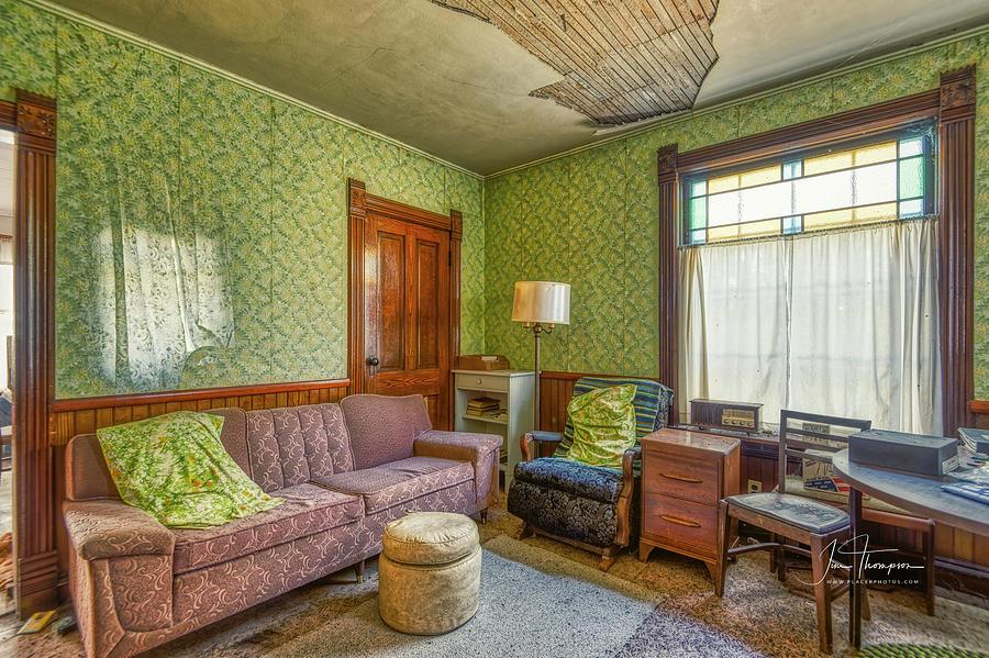 J B Thompson Photograph - The Old Farmhouse Living Room by Jim Thompson