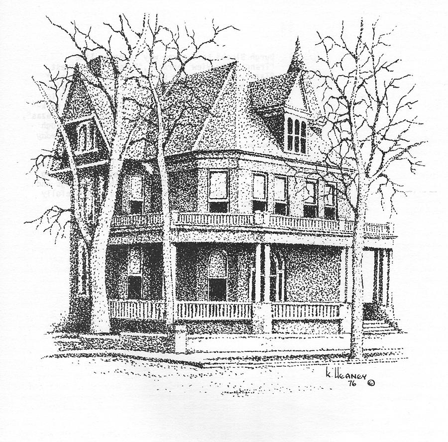Governors Mansion Drawing - The Old Governors Mansion,  Helena, Montana by Kevin Heaney