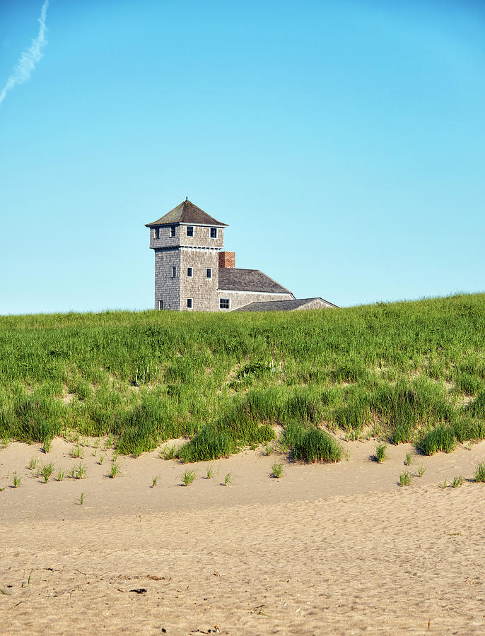 Old Harbor Photograph - The Old Harbor Life Saving Station - Race Point Beach by Brendan Reals