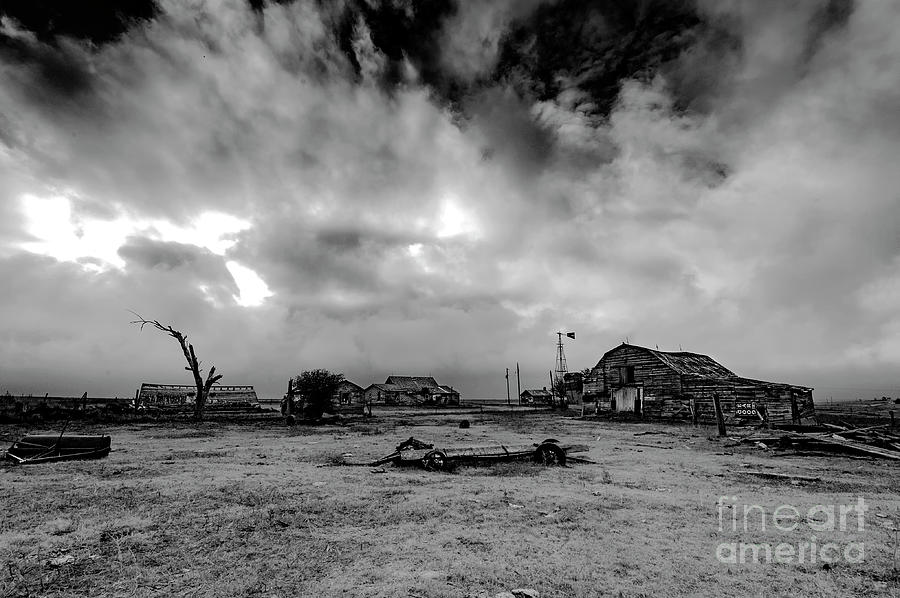 Storm Photograph - The Old Homeplace by Joe Sparks