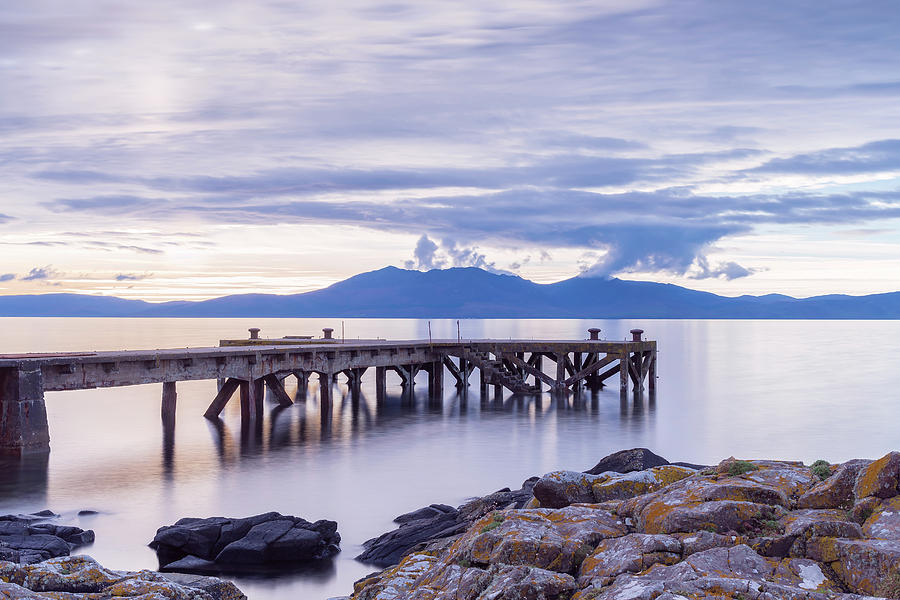The Old Jetty At Portencross Photograph