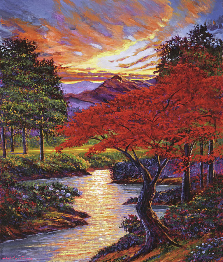THE OLD RED MAPLE TREE by David Lloyd Glover