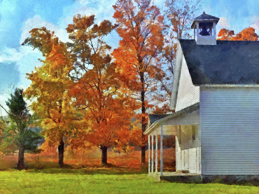 The Old Schoolhouse at Port Oneida by Digital Photographic Arts