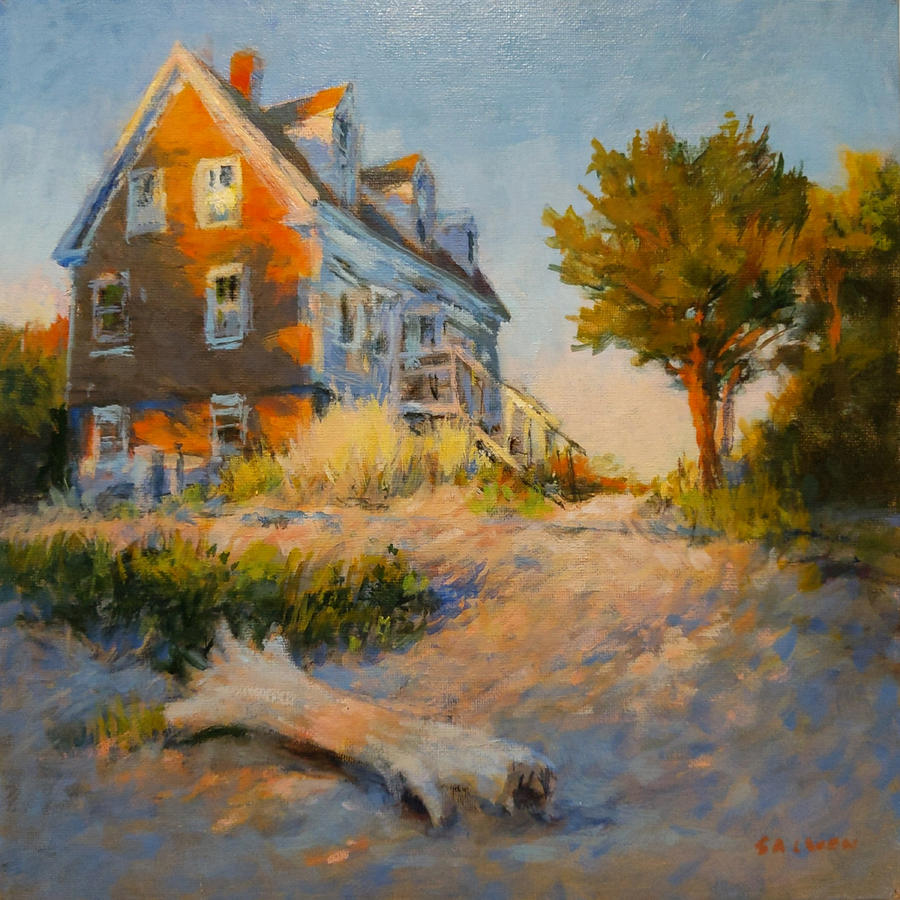 Cape Cod Painting - The Old Silva Place No. 1 by Peter Salwen