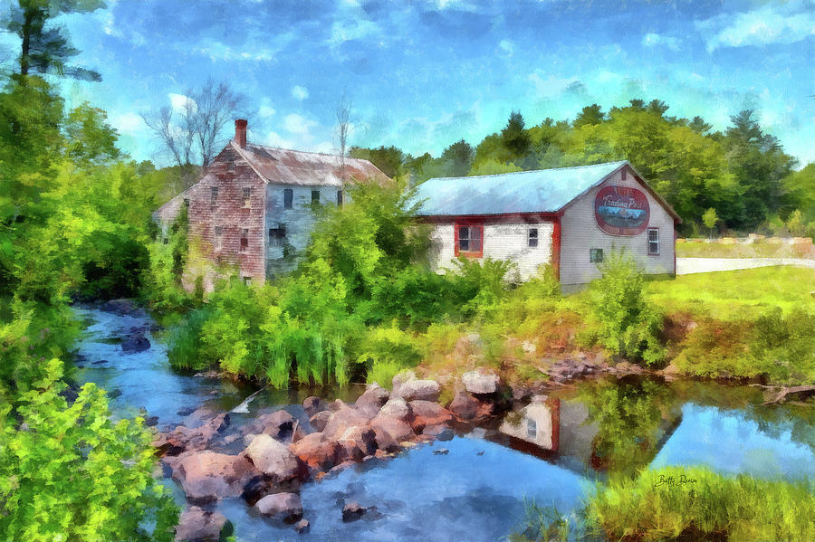 The Old New Hampshire Trading Post by Betty Denise